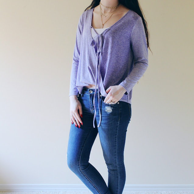 purple top from SHEIN