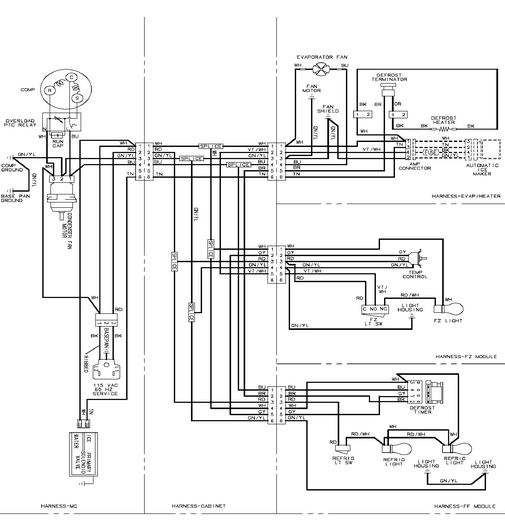 Maytag Refrigerator wiring diagram | Online Service Manual
