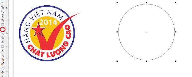 """Cách vẽ logo """"Hàng Việt Nam chất lượng cao"""" bằng Coreldraw X6"""