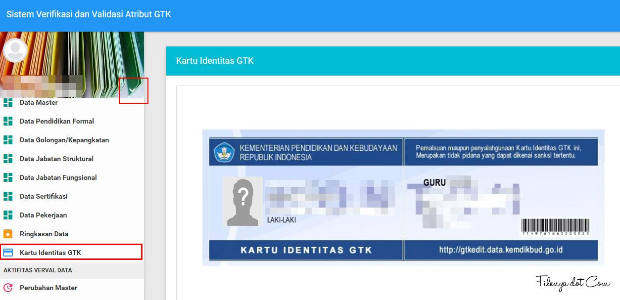 3 Langkah Cetak Lihat Kartu Identitas Gtk Pada Web Gtkedit Mkks Sma Smk