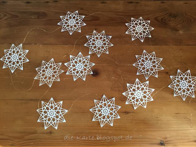 Sternengirlande, Weihnachtsgirlande, Stanze Geometrischer Stern