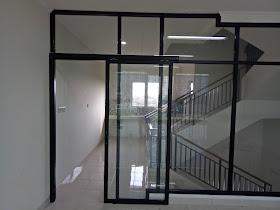 harga pintu kaca aluminium sliding atau geser permeter