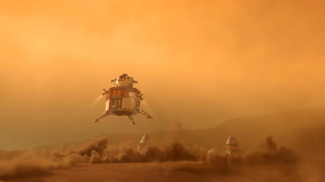 Journey to Space image - Mars landing