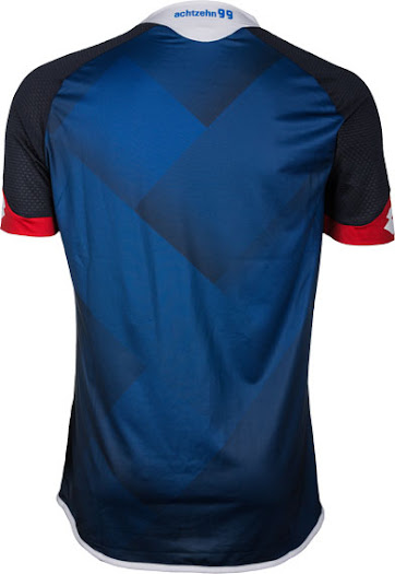b4e4de4ac2 The Hoffenheim 2015-16 Third Shirt is the most stunning of the bunch,  combining a dark blue base with a striking front gradient print to showcase  the new ...