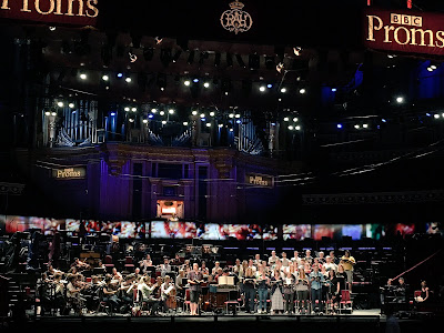 The Dunedin Consort rehearsing Bach's St John Passion at the BBC Proms (Photo courtesy of the Dunedin Consort)