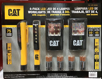 Ensure your work space is well lit with the Cat 4-pack LED Worklights