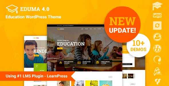 Education WordPress Theme – Education WP is made for educational web, LMS, Training Center, Courses Hub, College, Academy, University, School, Kindergarten.