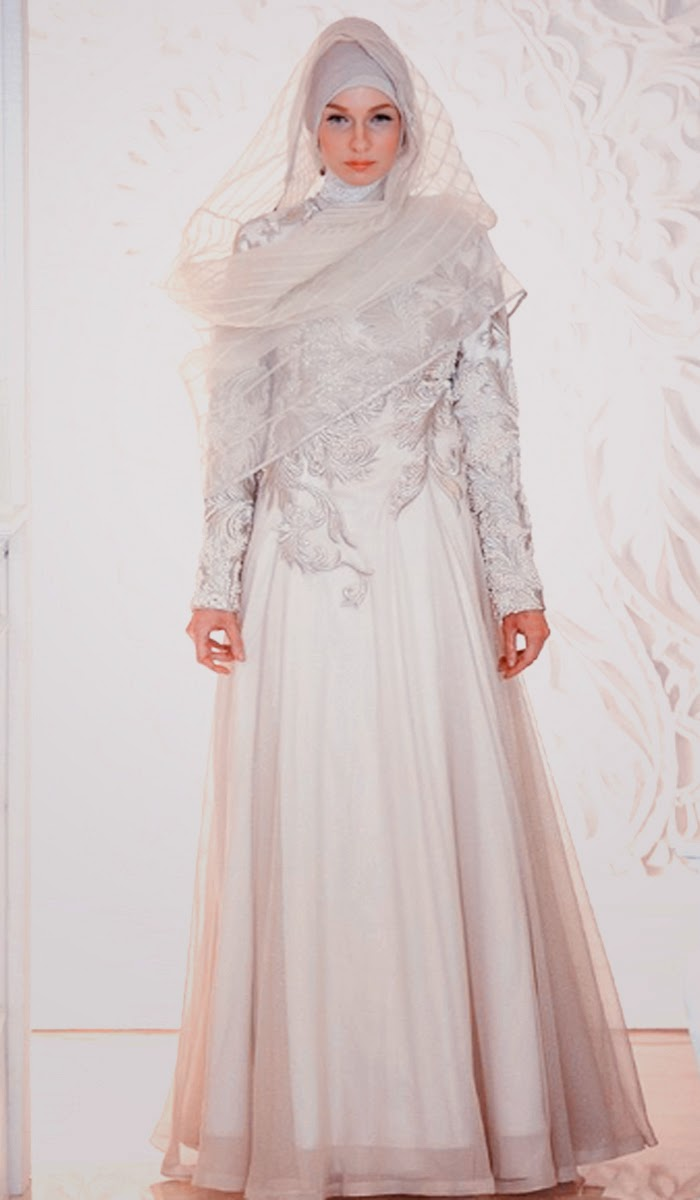 Model Desain Gaun Pengantin Islami II Butik Busana Sederhana