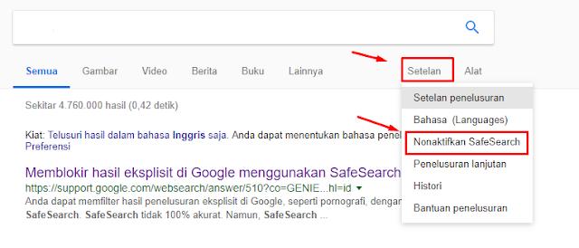 Cara Mengaktifkan Safesearch ( Mode Aman ) pada Google