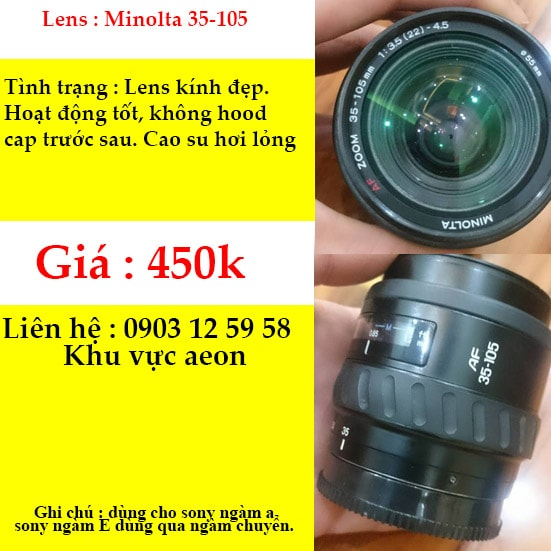 Lens minolta 35-105