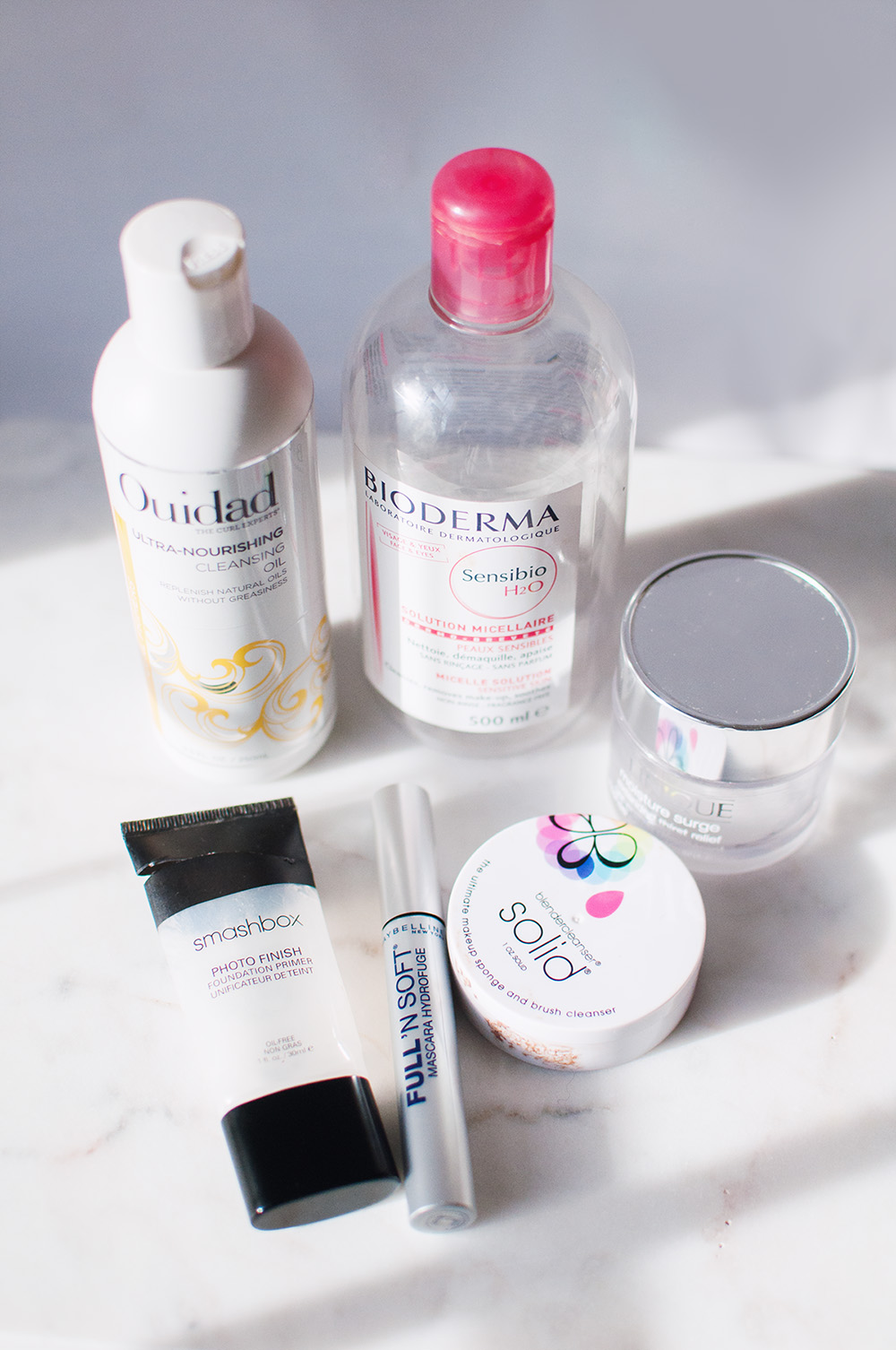Bioderma sensibio review, ouidad ulta nourishing cleansing oil review, clinique moisture surge revew, beautyblender solid cleanser review, smashbox photo finish primer review, empties, beauty empties review