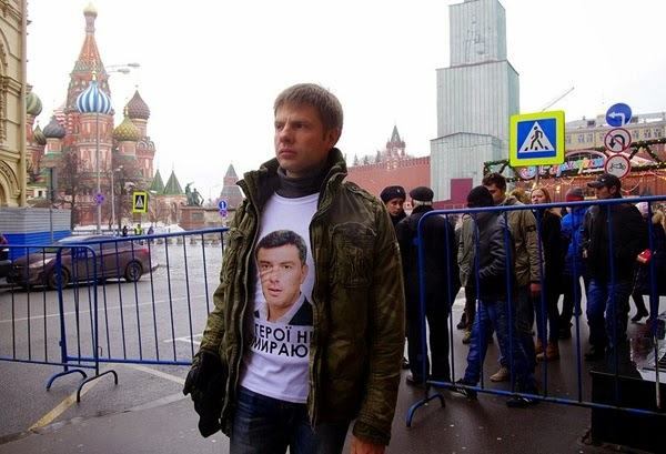 Moscow police detained the Verkhovna Rada deputy Goncharenko at the rally in memory of murdered Russian opposition leader Nemtsov