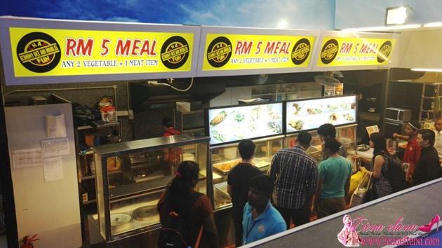 Kedai Makan Murah KL Sentral RM5 Dua Sayur Dan Satu Lauk
