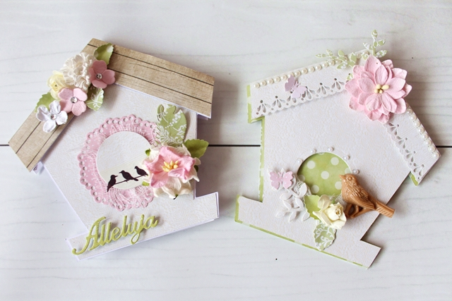 domek dla ptaków z papieru