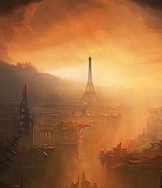 Paris em ruínas. Concepção artística.
