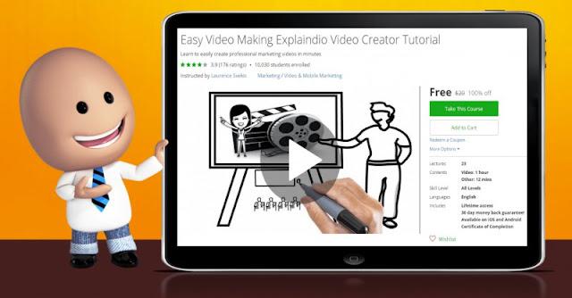 [100% Off] Easy Video Making Explaindio Video Creator Tutorial  Worth 20$