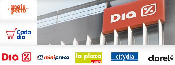 DIA, Minipreço, La Plaza, Citydia, Clarel, Cada Día, Maisperto