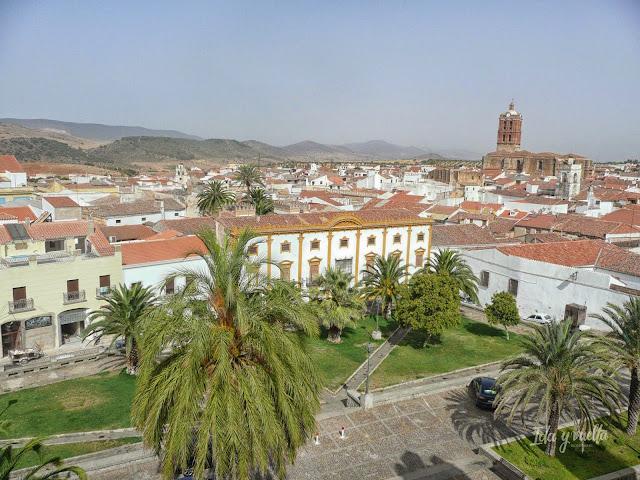 Vista de Zafra desde lo más alto del Parador