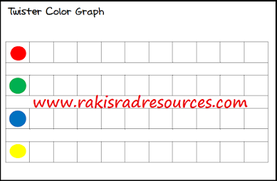 Free Twister graphing sheet to teach math while getting kids moving - from Raki's Rad Resources.