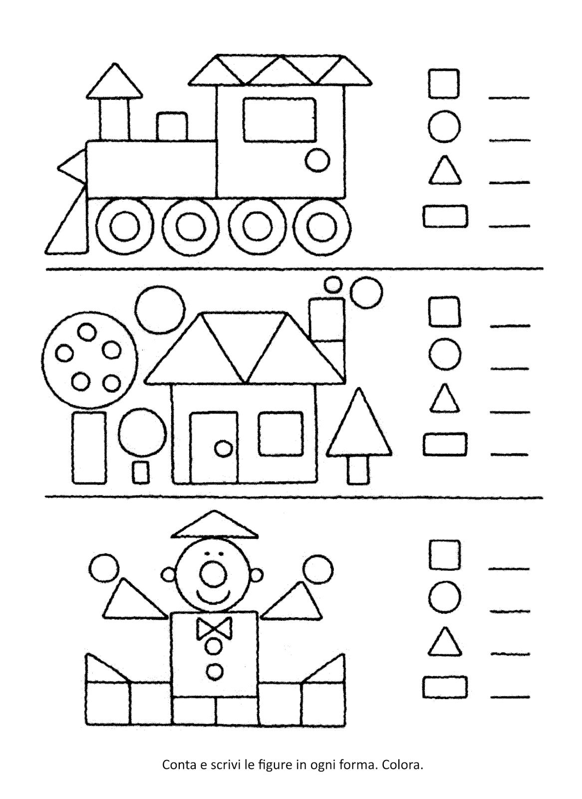 La maestra Linda : Forme geometriche