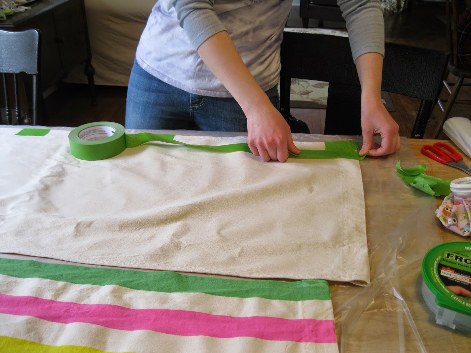 Apron History DIY Striped Deck Chairs