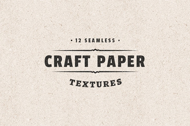 6 packs de fonds - Seamless Craft Paper Textures par Medialoot