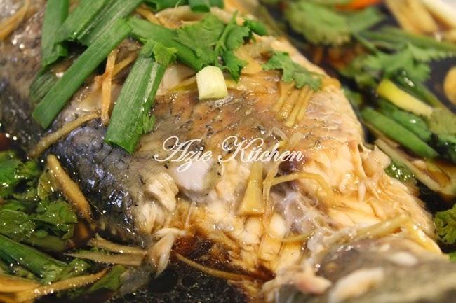 Ikan Siakap Kukus Chinese Style