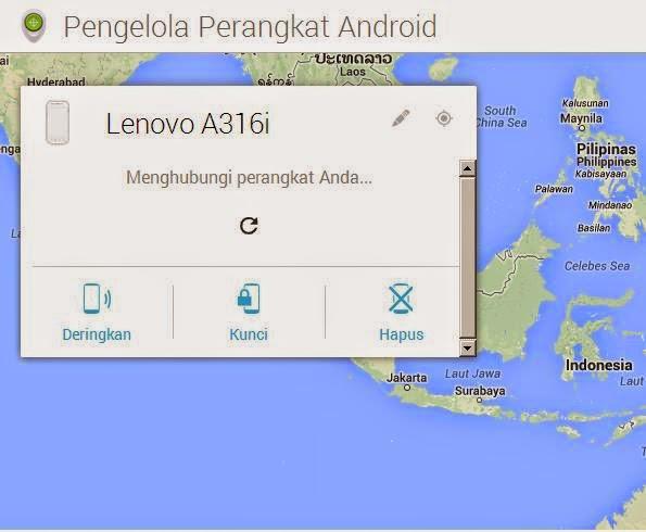 Melacak Android Lenovo yang Hilang atau dicuri