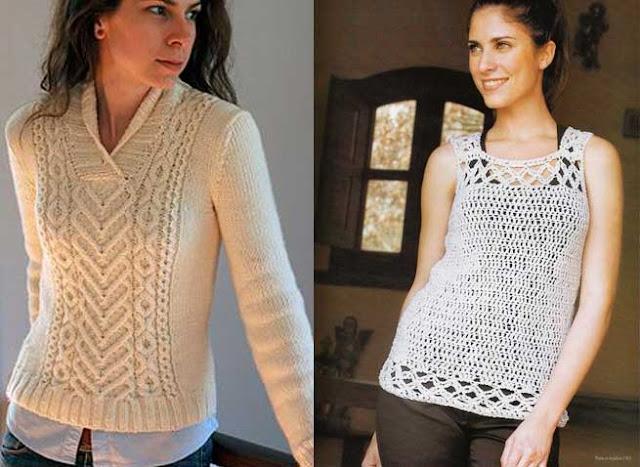 Blusas tejidas de moda fashion