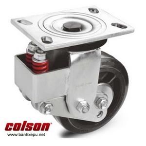 Bánh xe đẩy xoay đa chiều có lò xo Colson phi 150 mm | SB-6509-648 banhxepu.net