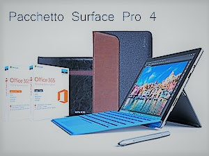 SURFACE PRO 4 – 256 GB / Intel Core i5 (8GB RAM) + Cover con Tasti + Penna
