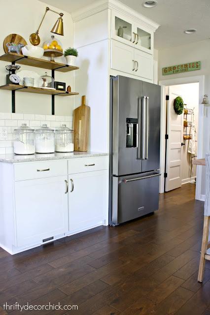 Counter depth Kitchenaid fridge