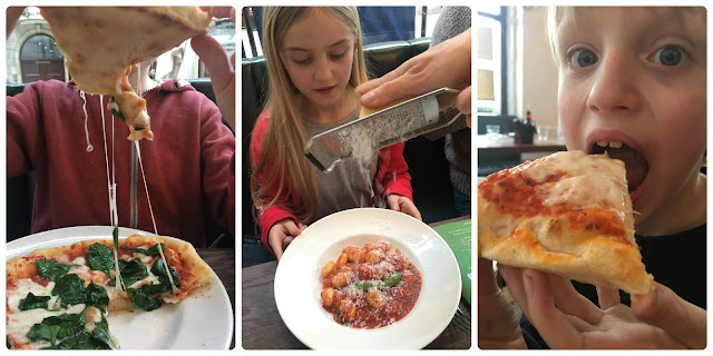 pizza and gnocchi at Spaghetti House, food blogger review