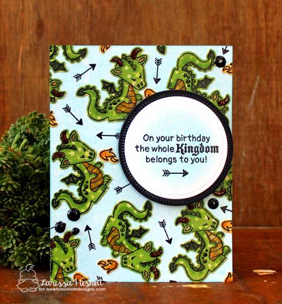 Dragon Card by Larissa Heskett | Knight's Quest Stamp Set by Newton's Nook Designs #newtonsnook #handmade #knight