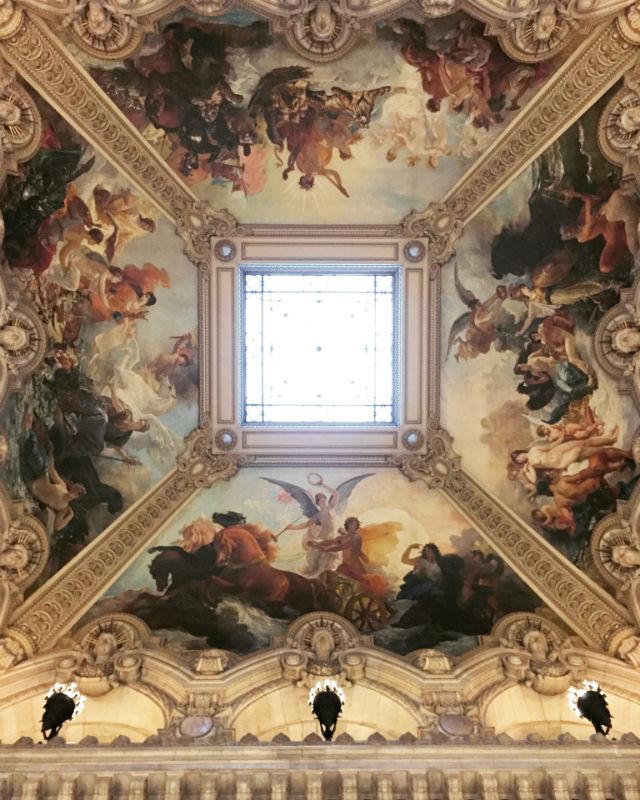 Techo de la Gran Escalera de la Ópera Garnier