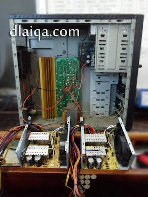 bandingkan dan perhatikan power supply lama dan baru