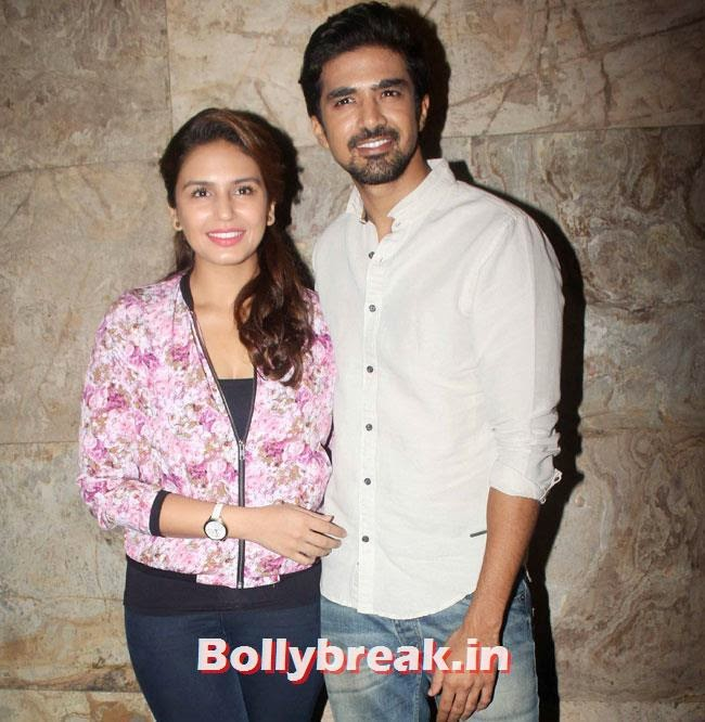 Huma Qureshi and Saqib Saleem, Huma Qureshi & Others at Hawaa Hawaai Special Screening at Lightbox