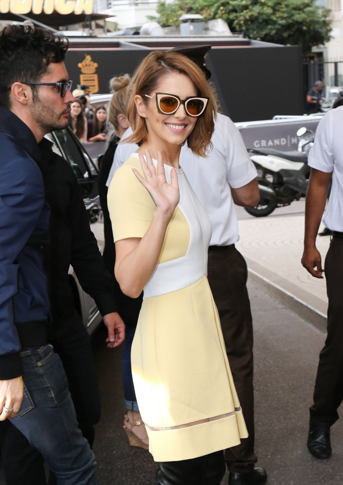 HQ Photos of Cheryl Cole arrives at Grand Hyatt Cannes Hotel Martinez