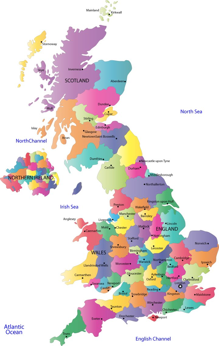 Political Map Of Uk.Money Map Of Uk United Kingdom Political
