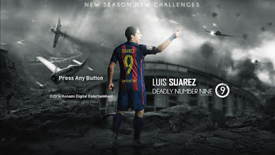 PES 2017 Luis Suarez (Barcelona) Starting Screen by Leo05