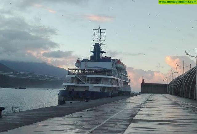 El puerto de Tazacorte alberga hoy una nueva escala de crucero
