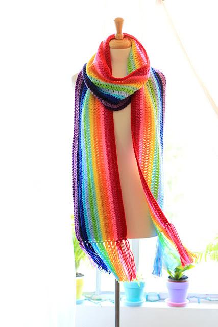 Oversized Rainbow Scarf by Mademoiselle Mermaid