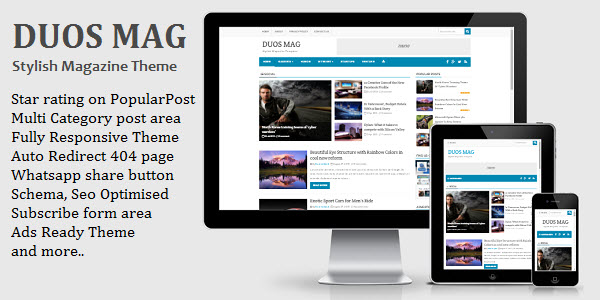 Download Duos Mag Blogger Templates free