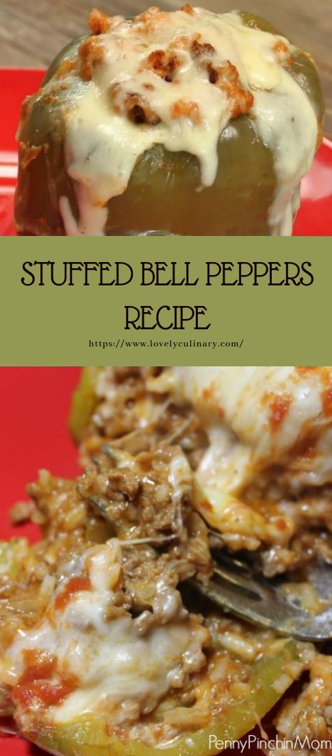 STUFFED BELL PEPPERS RECIPE #recipe #dinner