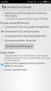 Final step to convert audio file