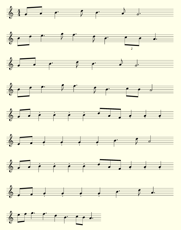 All Music Chords notes for sheet music : Lord of the Rings (Hobbit / Shire Theme) - Sheet Music | Dami's Blog