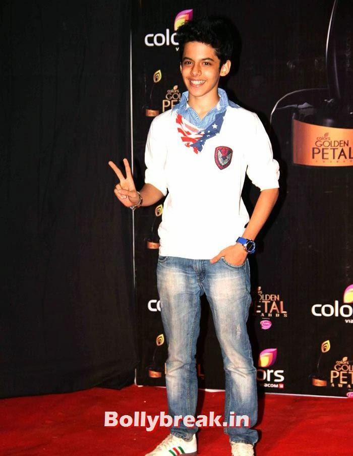 Darsheel Safary, Colors Golden Petal Awards Dec 2013 Photos