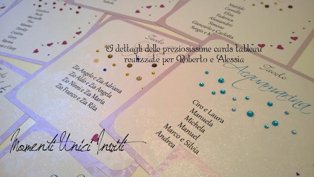 3aa Il coordinato a tema Pietre Preziose realizzato per Roberto e AlessiaCards Tableau Colore Bianco Colore Lilla Segnatavolo Tema Pietre Preziose