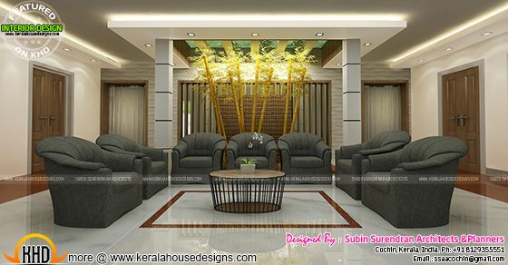 Kerala interior design : Living room