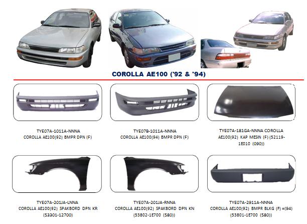Bemper Corolla AE100 1992-1994